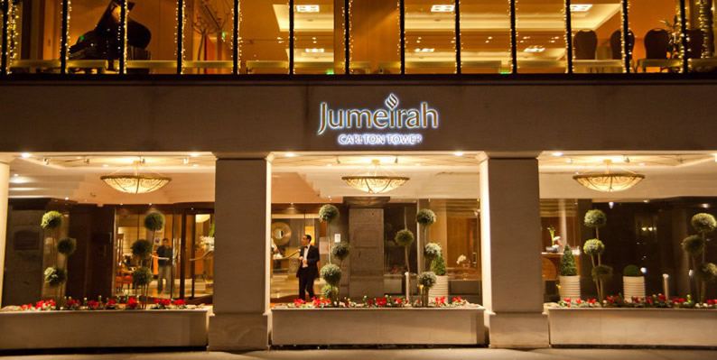 The 5 Star Jumeirah Carlton Towers, London